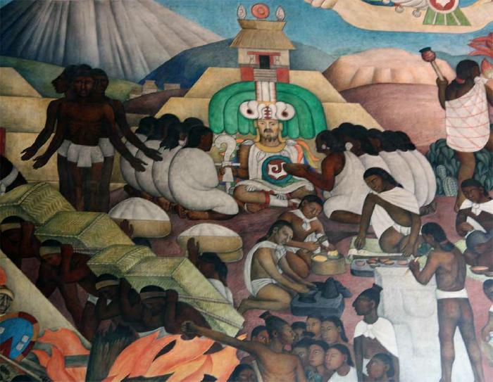 Diego rivera s quetzalcoatl mural for Mural quetzalcoatl